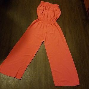 Pants - Strapless linen Jumpsuit